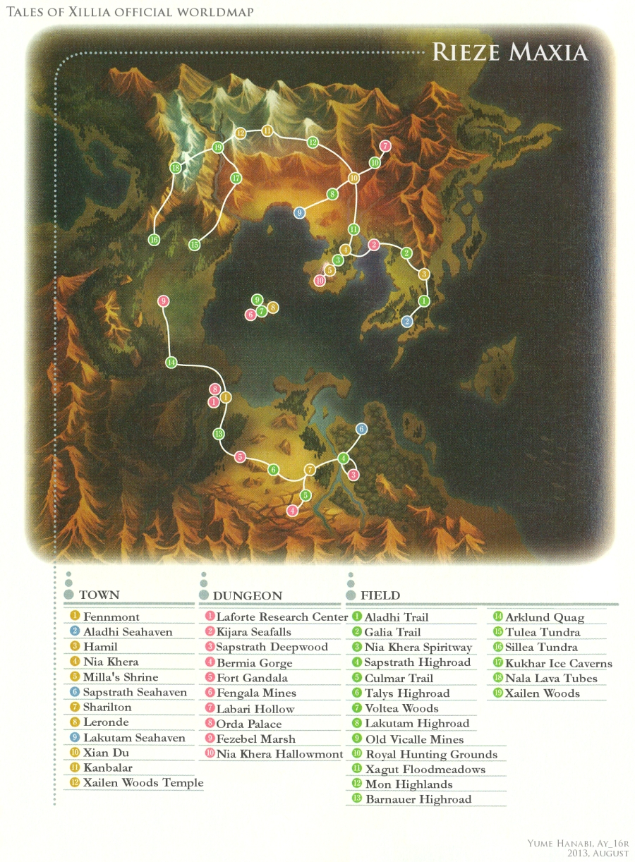Tales Of Xillia 2 World Map Campus Map
